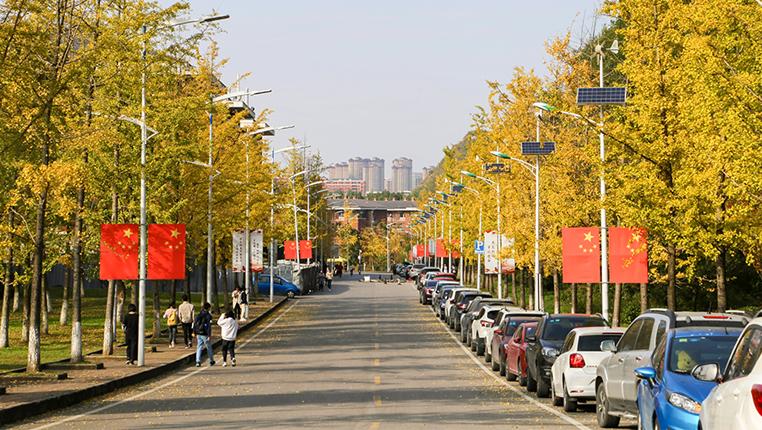 貴州:秋色滿校園