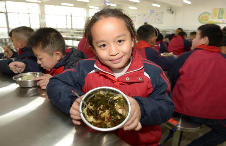 """貴州綏陽:農村義務教育學生""""營養餐""""全覆蓋"""