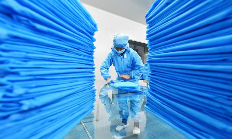 醫用防護品 生産不停歇