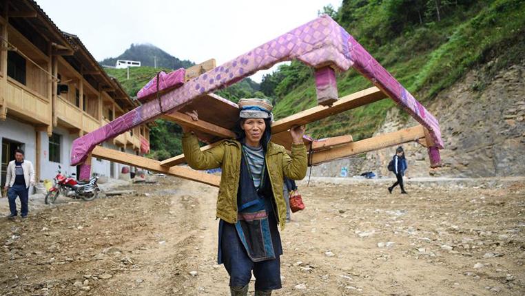 貴州榕江:極貧鄉地質災害點群眾喜遷新居