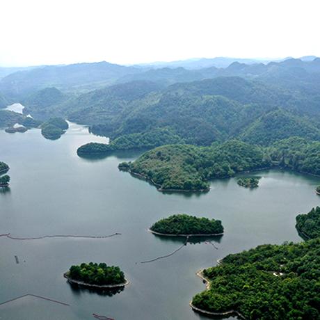 鳥瞰貴陽阿哈湖:湖光山色美 初夏景迷人