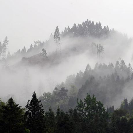 貴州榕江:山巒重疊雲霧彌漫 宛如水墨畫卷