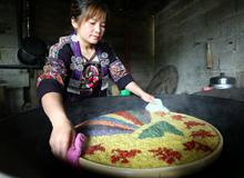 黔南州福泉市馬場坪街道:彩色糯米飯飄香