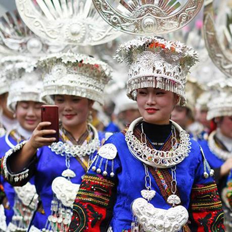 貴州雷山:苗族群眾歡度苗年