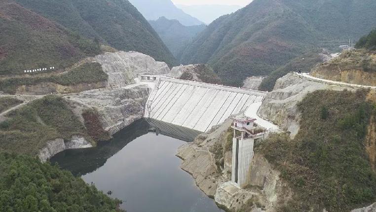 貴州石阡獐子溝水庫正式開始取水灌溉