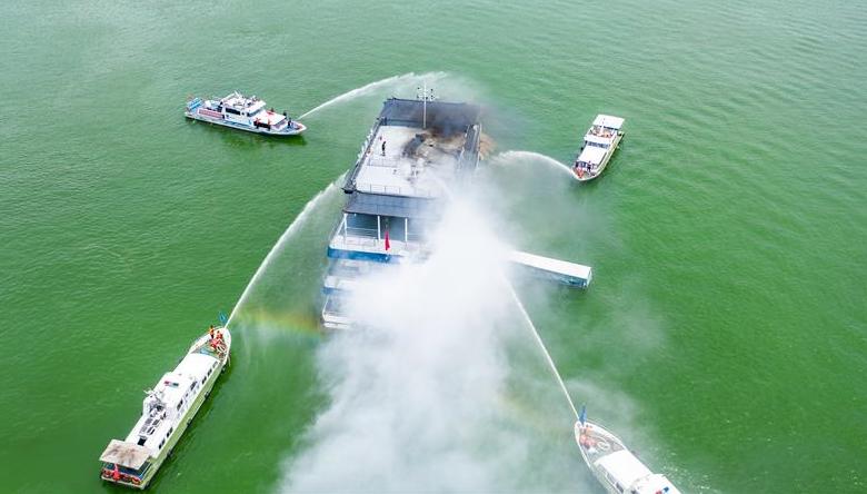 貴州舉行水上交通事故跨區域聯合應急救援演練