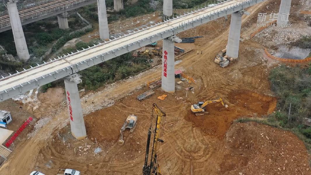 貴南高鐵引入貴陽樞紐工程有序推進