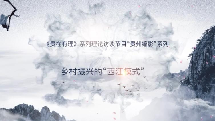 """《貴在有理》""""貴州縮影""""八:鄉村振興的""""西江模式"""""""