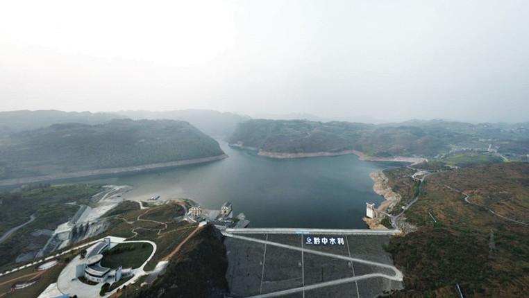 【江河頌·烏江之變】航拍貴州黔中水利樞紐工程平寨水庫