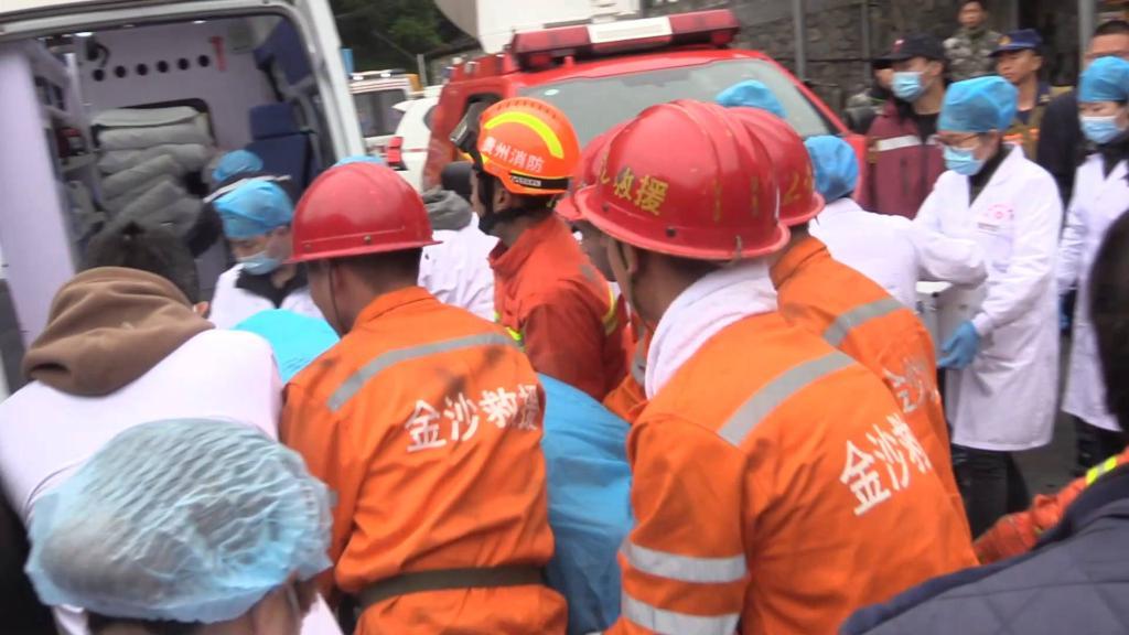 貴州省金沙縣煤礦事故:已致2人死亡 持續搜救6名被困人員
