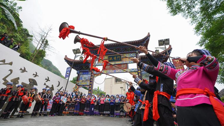 """貴州望謨:布依族同胞盛裝歡度傳統節日""""三月三"""""""