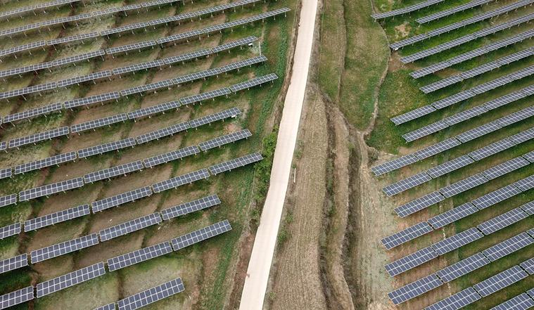 【貴州綠電行】航拍仙水窩農業光伏電站