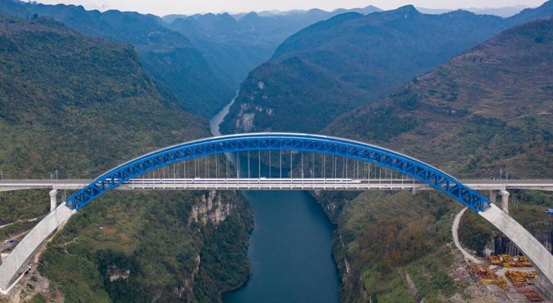 天空之眼瞰貴州橋梁
