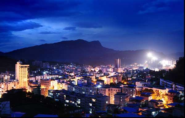 正安縣城夜景