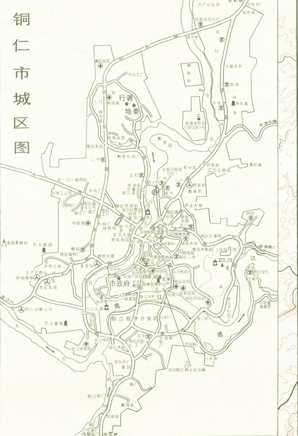 铜仁市城区地图