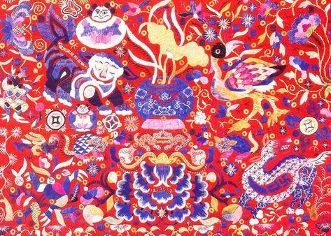 苗族刺绣图片